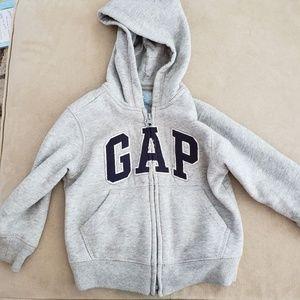 Gap Gray Toddler Zip Hoodie